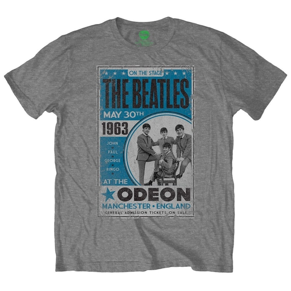 The Beatles - Odeon Poster Unisex X-Large T-Shirt - Grey