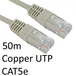 RJ45 (M) to RJ45 (M) CAT5e 50m Grey OEM Moulded Boot Copper UTP Network Cable - Image 2