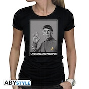 Star Trek - Spock Women's Large T-Shirt - Black