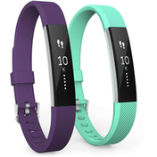 Yousave Fitbit Alta / Alta HR Strap 2-Pack Small - Plum/Mint Green