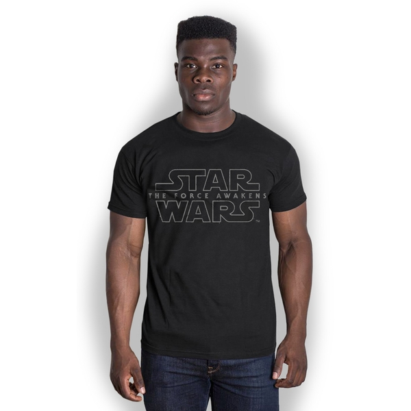 Star Wars - Episode VII Force Awakens Logo Unisex X-Large T-Shirt - Black