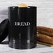 Bread Bin Crock Storage Canister Jar | M&W Black - Image 2