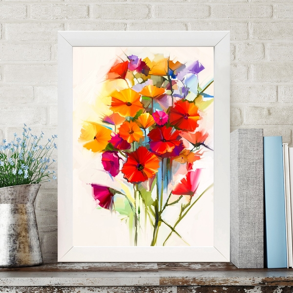 BC454561096 Multicolor Decorative Framed MDF Painting