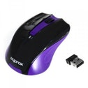 Approx APPWMEP Wireless Optical Mouse, 1200 DPI, Nano USB - Black/Purple
