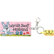 Pack of 6 Worlds Best Husband Key Rings