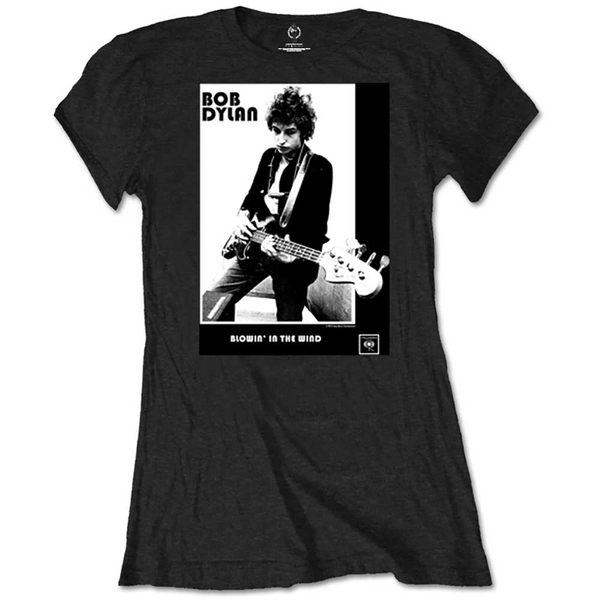 Bob Dylan - Blowing in the Wind Women's Small T-Shirt - Black