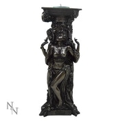 Bronze Triple Goddess Tealight Holder