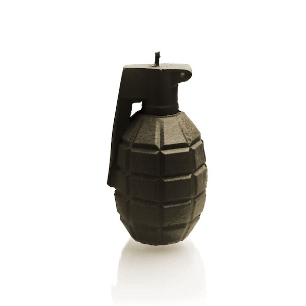 Black Small Grenade Candle