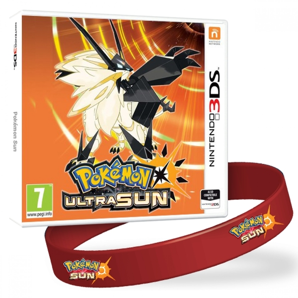 Pokemon Ultra Sun + Pokemon Sun Wristband 3DS Game