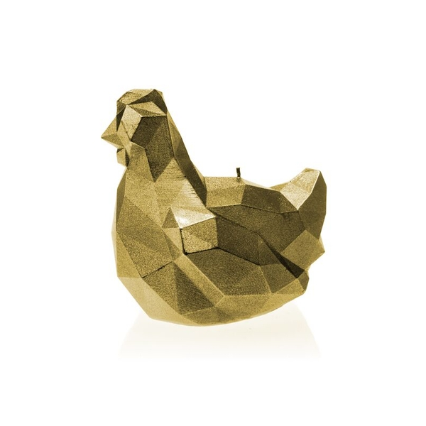 Classic Gold Big Chicken Candle