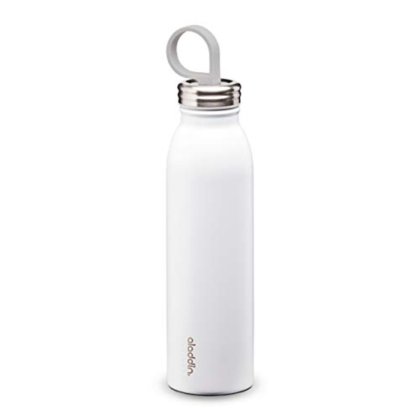 Aladdin Chilled Thermavac Stainless Steel Water Bottle 0.55L Snowflake White