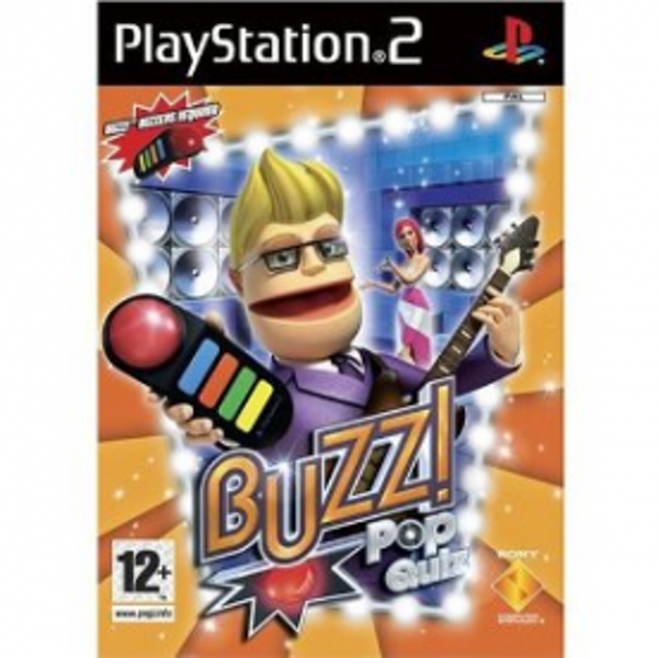 Buzz! The Pop Quiz Game with 4 Buzzers PS2