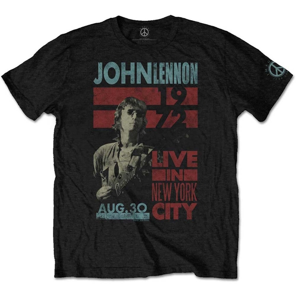 John Lennon - Live in NYC Men's Medium T-Shirt - Black