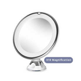 Circular LED Mirror x10 | Pukkr X10 Magnification