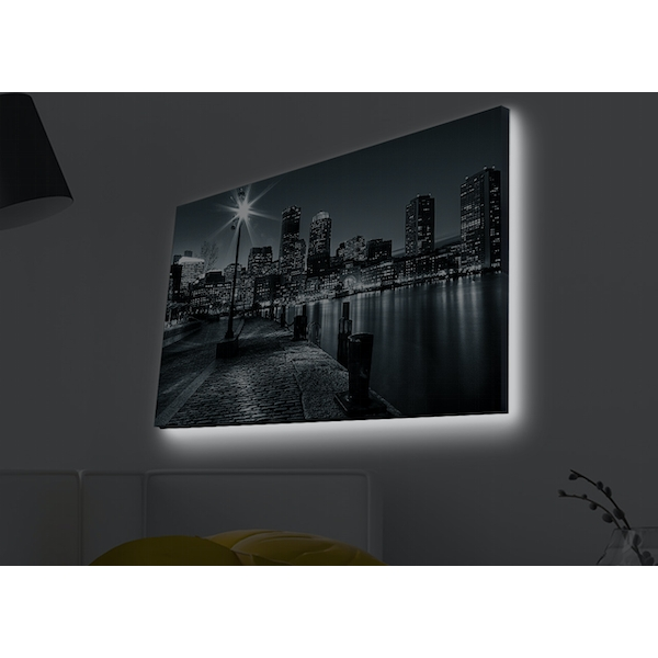 4570MDACT-035 Multicolor Decorative Led Lighted Canvas Painting
