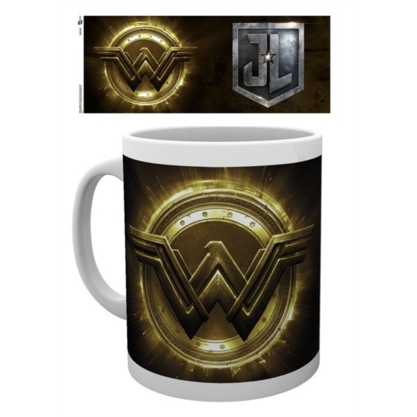 Justice League Movie - Wonder Woman Gold Logo Mug