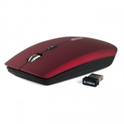 Gamekraft Slimline Cordless Wireless Optical Mouse Red