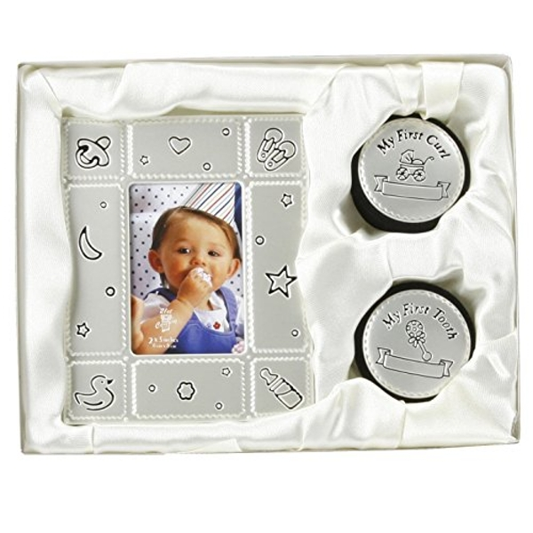 """2"""" x 3"""" - Photo Frame & First Tooth & Curl Luxury Boxed Set"""