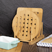 Set of 4 Bamboo Trivets with Storage Rack | M&W - Image 4