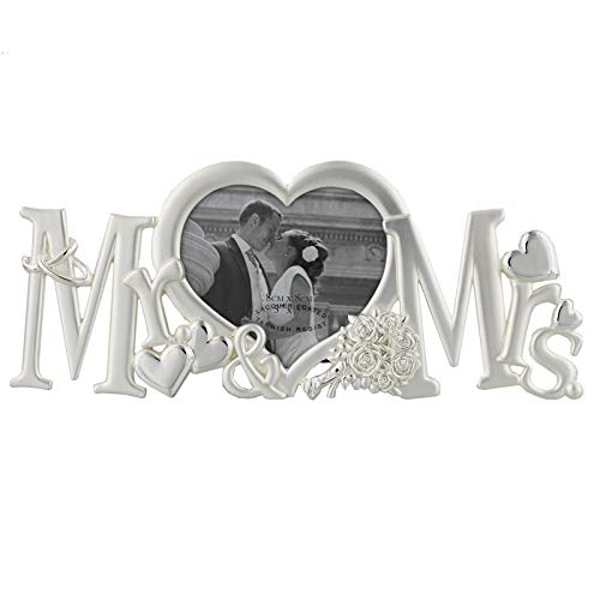 """3"""" x 3"""" - Silver Plated Photo Frame - Mr & Mrs"""