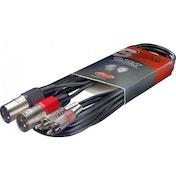 Stagg RCA Male XLR Male Twin Cable 3m