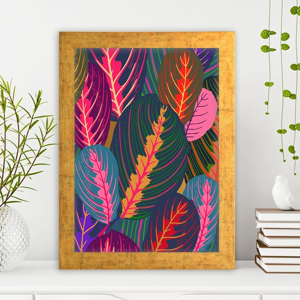 AC12623111958 Multicolor Decorative Framed MDF Painting