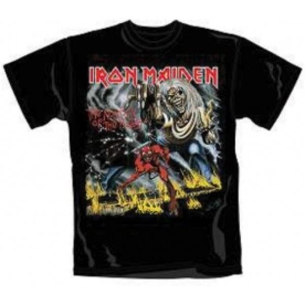 Iron Maiden Number of The Beast Mens T Shirt: Small