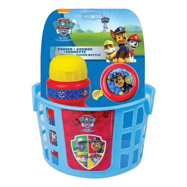 Paw Patrol Bike Basket, Water Bottle and Bell Accessories Pack - Image 1