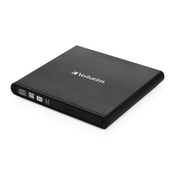 Verbatim 98938 External Slimline USB 2.0 Mobile CD/DVD Writer Black