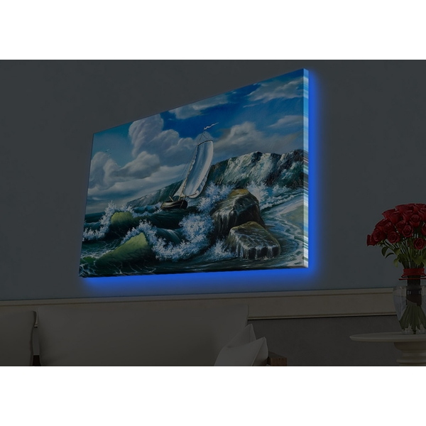 4570HDACT-054 Multicolor Decorative Led Lighted Canvas Painting