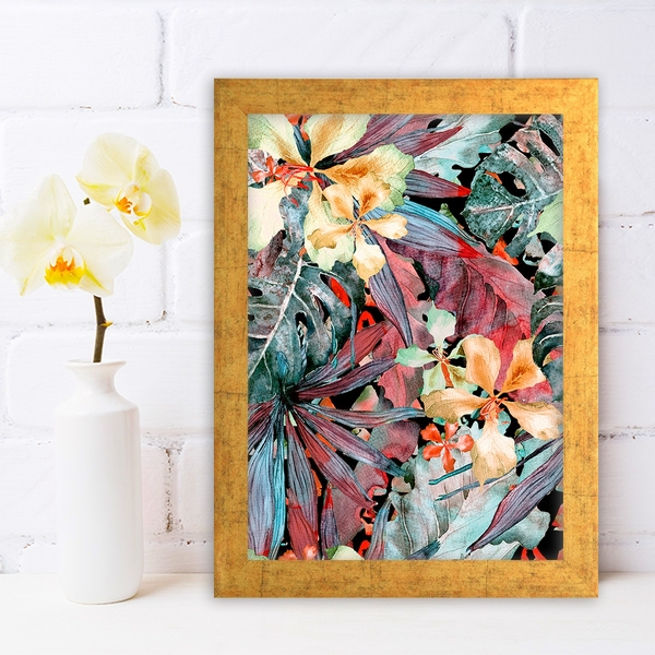 AC794486410 Multicolor Decorative Framed MDF Painting