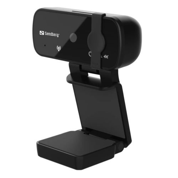 Sandberg USB Webcam Pro+ 4K with Omni-directional Mics 8MP Full HD 4K Glass Lens Autofocus & Light Correction