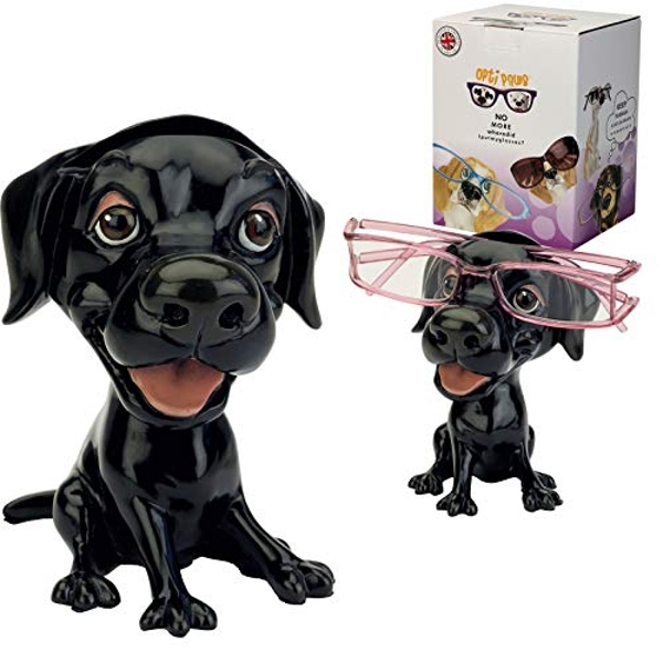 Arora 8013 Black Labrador OptiPaws Spectacle/Glasses Holder Design, Multicolour, One Size