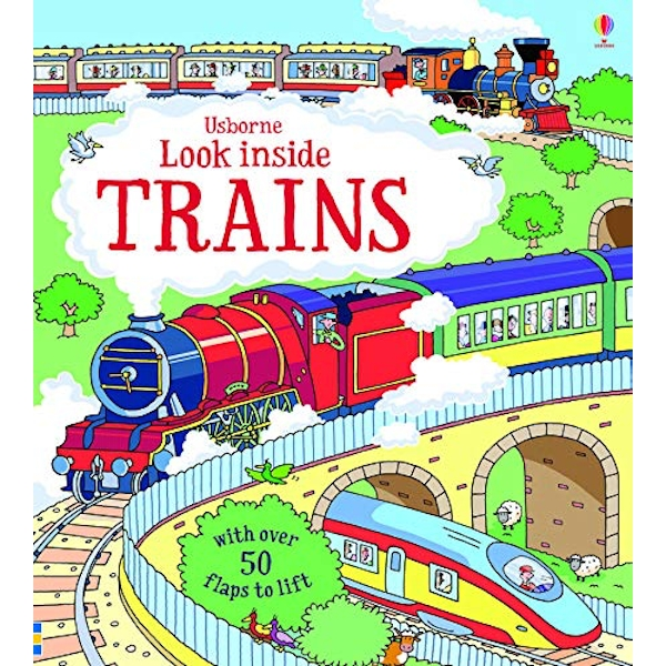 Look Inside Trains by Alex Frith (Board book, 2015)