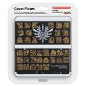 New Nintendo 3DS Cover Plates Monster Hunter 4 Faceplate Black