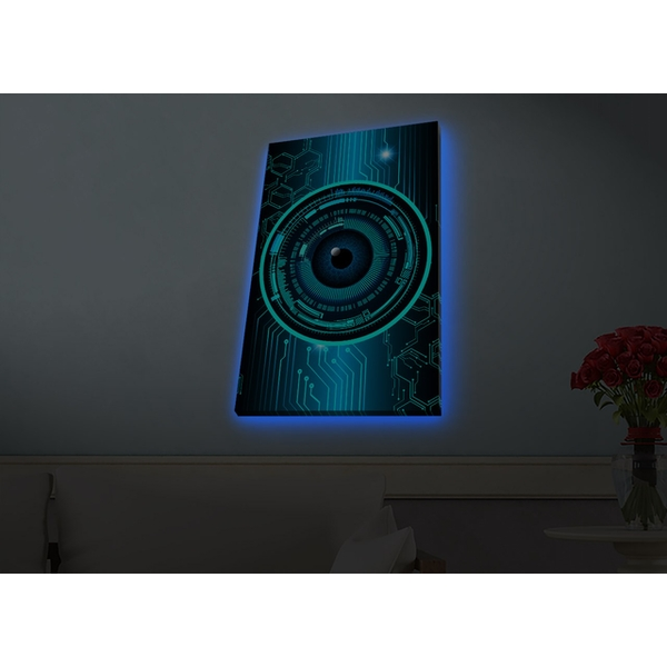 4570HDACT-074 Multicolor Decorative Led Lighted Canvas Painting