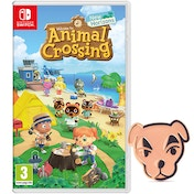 Animal Crossing New Horizons Nintendo Switch Game +  K.K. Slider Pin Badge