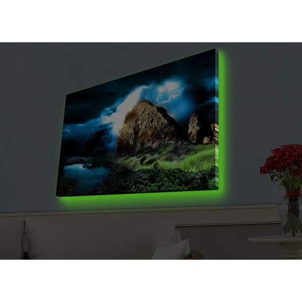 4570HDACT-026 Multicolor Decorative Led Lighted Canvas Painting