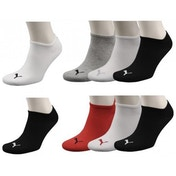 Puma Invisible Socks UK Size 6-8 Navy Mix Pack of 3
