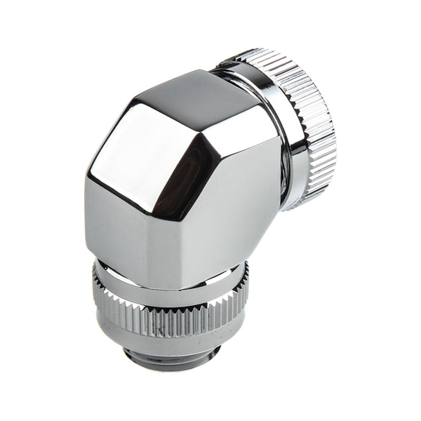 Phanteks 16mm Hard Tube Rotary Fitting 90 G1/4 - Chrome