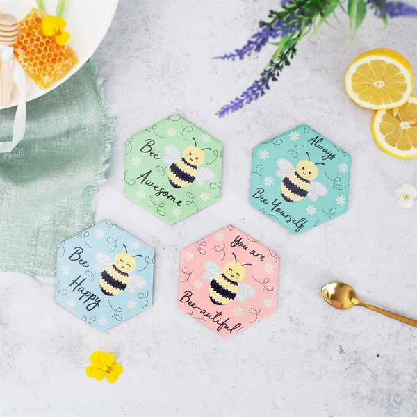 Sass & Belle Queen Bee Coasters (Set of 4)