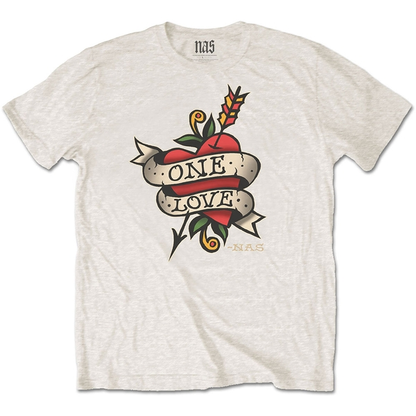 Nas - Love Tattoo Men's Small T-Shirt - Natural