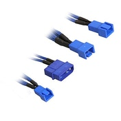 BitFenix Alchemy Molex to 3x 3-Pin 5V Adapter 20cm - sleeved blue/blue
