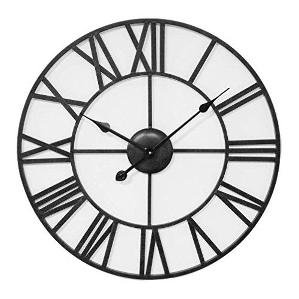 HOMETIME? Wrought Metal Cut Out Wall Clock - 60cm