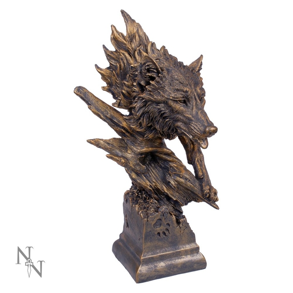 Large Wolf Bust 40cm Statue