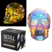 Metallic Iridescent Skull Decorative LED Light