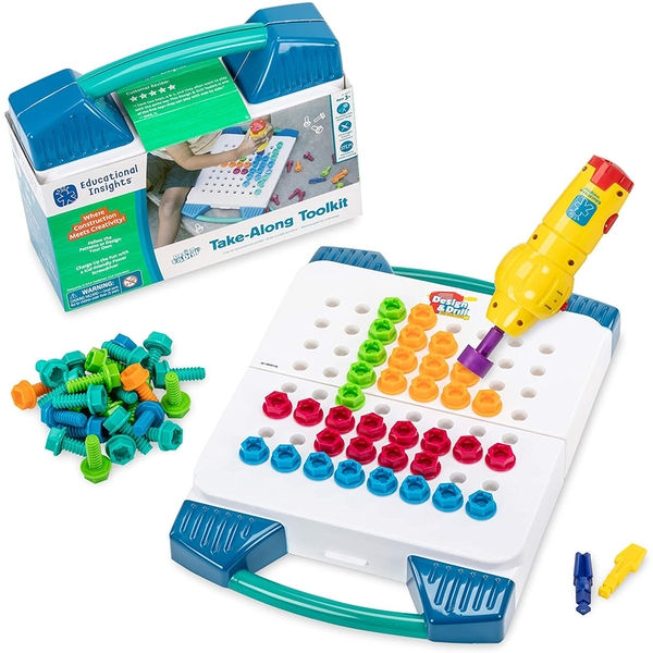 Learning Resources Design & Drill Take-Along Tool Kit For Kids