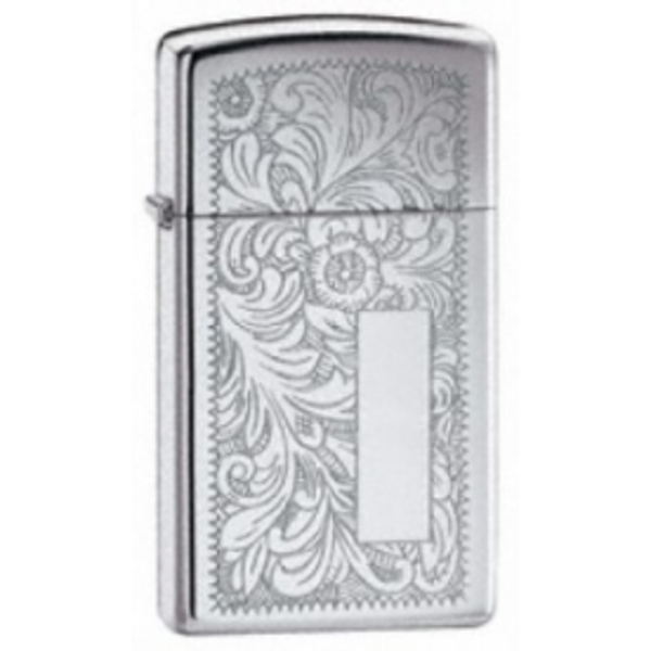 Zippo Slim Venetian High Polished Chrome Lighter