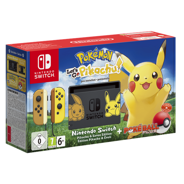 Nintendo Switch Let's Go Pokemon Pikachu Limited Edition Console Bundle