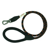 Long Paws Black Comfort Collection Lead Padded Rope 110cm